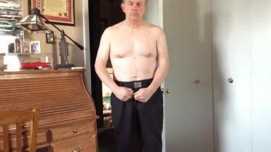 daddy standing to masturbate