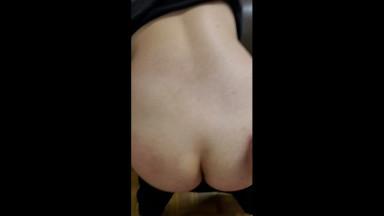 spanking a good white slut boi