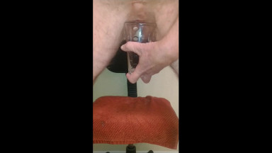 castrated male pissing and playing with my man boobs