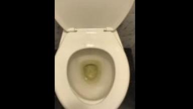 piss 1 in hotel lobby toilet