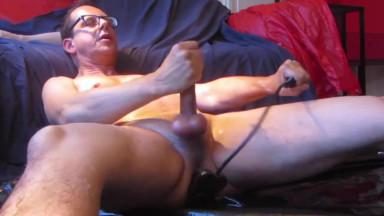 plugged cum shot, prostate blocker sound