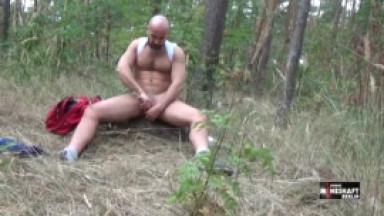 luca jerking off in the woods