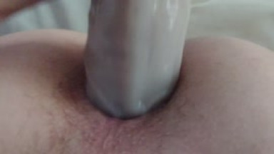 big dildo up my twink ass