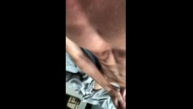 good morning jacking off my big ginger dick