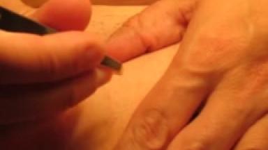 hair removal with tweezers (long version, definitely no cum)