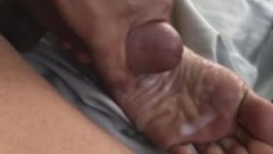 foot fun + cum on sole