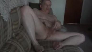 daddy getting naked and masturbating