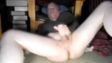 legs spread to jerk-off