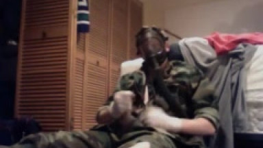 gas mask, bdu and socks jo
