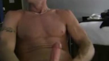 muscle trevor gets naked and jacks big dick